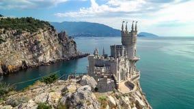 Καταπιείτε το σύμβολο του Castle φωλιών ` s της Κριμαίας απόθεμα βίντεο