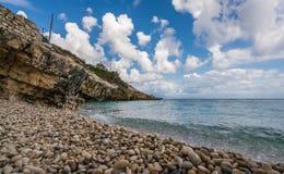 Καταπληκτικά τυρκουάζ νερά της παραλίας Xigia στοκ φωτογραφίες