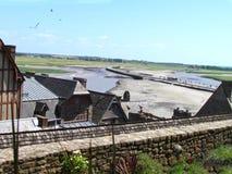 Καταπληκτική άποψη από το αβαείο Saint-Michel στοκ εικόνα