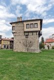 Καταπληκτική άποψη του μεσαιωνικού πύργου του αγγέλου Voivode στο μοναστήρι Arapovo Αγίου Nedelya, Βουλγαρία Στοκ Φωτογραφίες