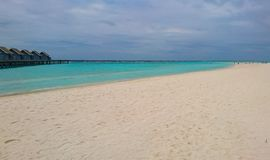 Καταπληκτική άποψη του νησιού των Μαλδίβες στοκ εικόνες