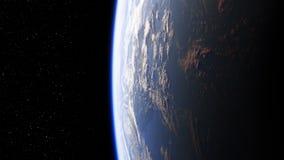 Καταπληκτική άποψη του πλανήτη Γη από το διάστημα Άνευ ραφής περιτυλίχτηκε ελεύθερη απεικόνιση δικαιώματος