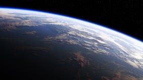 Καταπληκτική άποψη του πλανήτη Γη από το διάστημα Εξαιρετικά υψηλός καθορισμός 4K 3840x2160 Άνευ ραφής περιτυλίχτηκε απεικόνιση αποθεμάτων