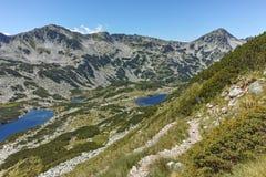 Καταπληκτική άποψη Dalgoto η μακριά λίμνη, βουνό Pirin Στοκ εικόνα με δικαίωμα ελεύθερης χρήσης