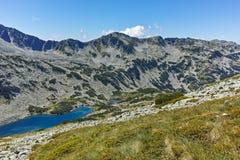 Καταπληκτική άποψη Dalgoto η μακριά λίμνη, βουνό Pirin Στοκ φωτογραφία με δικαίωμα ελεύθερης χρήσης