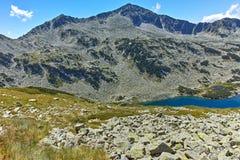 Καταπληκτική άποψη Dalgoto η μακριά λίμνη, βουνό Pirin Στοκ Φωτογραφίες