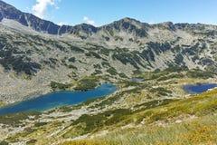 Καταπληκτική άποψη Dalgoto η μακριά λίμνη, βουνό Pirin Στοκ Εικόνες