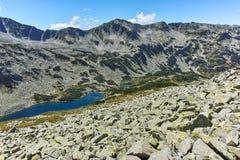 Καταπληκτική άποψη Dalgoto η μακριά λίμνη, βουνό Pirin Στοκ Φωτογραφία