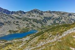 Καταπληκτική άποψη Dalgoto η μακριά λίμνη, βουνό Pirin Στοκ Εικόνα