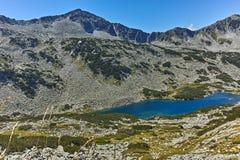 Καταπληκτική άποψη Dalgoto η μακριά λίμνη, βουνό Pirin Στοκ φωτογραφίες με δικαίωμα ελεύθερης χρήσης