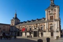 Καταπληκτική άποψη Plaza de Λα Villa στην πόλη της Μαδρίτης, Ισπανία Στοκ εικόνα με δικαίωμα ελεύθερης χρήσης