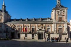 Καταπληκτική άποψη Plaza de Λα Villa στην πόλη της Μαδρίτης, Ισπανία Στοκ Εικόνες
