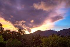 Καταπληκτική ανατολή στα των Άνδεων βουνά στοκ φωτογραφία με δικαίωμα ελεύθερης χρήσης