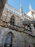 Καταπληκτική αρχιτεκτονική στο αριστούργημα άποψης στεγών Di Μιλάνο Ι στοκ εικόνα