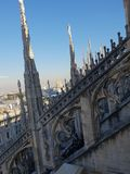 Καταπληκτική αρχιτεκτονική στο αριστούργημα άποψης στεγών Di Μιλάνο Ι στοκ φωτογραφία