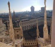 Καταπληκτική αρχιτεκτονική στο αριστούργημα άποψης στεγών Di Μιλάνο Ι στοκ φωτογραφίες