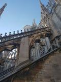 Καταπληκτική αρχιτεκτονική στο αριστούργημα άποψης στεγών Di Μιλάνο Ι στοκ εικόνες