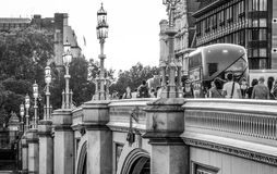 Καταπληκτική γέφυρα του Γουέστμινστερ στο Λονδίνο - το ΛΟΝΔΙΝΟ - τη ΜΕΓΑΛΗ ΒΡΕΤΑΝΊΑ - 19 Σεπτεμβρίου 2016 Στοκ φωτογραφία με δικαίωμα ελεύθερης χρήσης