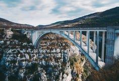 Καταπληκτική γέφυρα de Chauliere Gorges du Verdon, Γαλλία Στοκ φωτογραφία με δικαίωμα ελεύθερης χρήσης