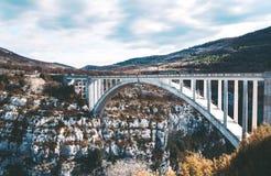 Καταπληκτική γέφυρα de Chauliere Gorges du Verdon, Γαλλία Στοκ εικόνες με δικαίωμα ελεύθερης χρήσης