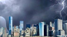 Καταπληκτική ζωτικότητα πόλεων φαντασίας, ζωτικότητα πόλεων της Νέας Υόρκης φαντασίας Αποκάλυψη της Νέας Υόρκης ελεύθερη απεικόνιση δικαιώματος