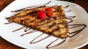 Καταπληκτική τηγανίτα στο μικρό εστιατόριο στο Ρότερνταμ Στοκ εικόνες με δικαίωμα ελεύθερης χρήσης