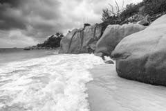 Καταπληκτικοί παραλία και βράχοι Anse Λάτσιο - Praslin, Seychelels Στοκ Εικόνες