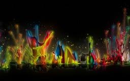Καταπληκτικοί παφλασμοί χρώματος Στοκ Εικόνες
