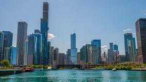 Καταπληκτικός ορίζοντας του Σικάγου κεντρικός - ΣΙΚΑΓΟ, ΗΠΑ - 12 ΙΟΥΝΊΟΥ 2019 στοκ εικόνα με δικαίωμα ελεύθερης χρήσης
