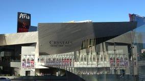 Καταπληκτικό εμπορικό κέντρο κρυστάλλων στο Λας Βέγκας - που βρίσκεται στη λουρίδα - ΗΠΑ 2017 απόθεμα βίντεο