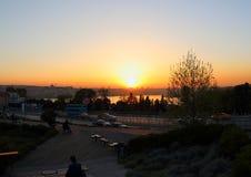 Καταπληκτικό ηλιοβασίλεμα από το πάρκο Sishane, Τουρκία Στοκ φωτογραφία με δικαίωμα ελεύθερης χρήσης
