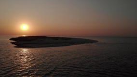 Καταπληκτικό ηλιοβασίλεμα θάλασσας απόθεμα βίντεο