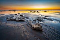 Καταπληκτικό ηλιοβασίλεμα στην παραλία καλωδίων σε Broome, δυτική Αυστραλία στοκ εικόνες με δικαίωμα ελεύθερης χρήσης