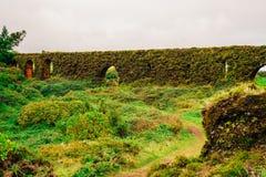 Καταπληκτικό παλαιό brickwall στο νησί του Miguel Σάο, Αζόρες Στοκ εικόνες με δικαίωμα ελεύθερης χρήσης
