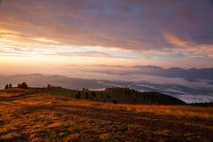 Καταπληκτικό πρωί σε Carnic Apls στην Αυστρία Στοκ Φωτογραφία