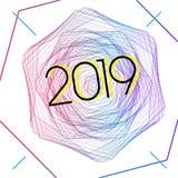 2019 καταπληκτικό σύγχρονο ύφος ελεύθερη απεικόνιση δικαιώματος