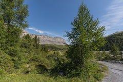 Καταπληκτικό τοπίο στη διαδρομή υψηλών βουνών μέσω του περάσματος Gemmi Στοκ φωτογραφία με δικαίωμα ελεύθερης χρήσης