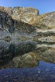 Καταπληκτικό τοπίο των λιμνών Elenski, βουνό Rila Στοκ Εικόνες