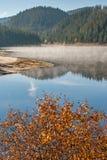 Καταπληκτικό φθινόπωρο της δεξαμενής Golyam Beglik, βουνό Rhodopes Στοκ Εικόνα