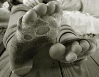 Καταπονημένες κάλτσες Στοκ εικόνες με δικαίωμα ελεύθερης χρήσης