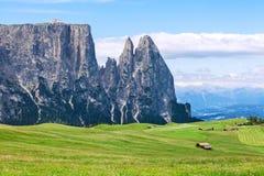 Καταπληκτικά βουνά Sciliar Στοκ Φωτογραφία