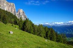 Καταπληκτικά βουνά Sciliar Στοκ Εικόνα