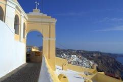 Καταπληκτική άποψη από Santorini Στοκ φωτογραφία με δικαίωμα ελεύθερης χρήσης