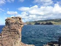 Καταπληκτική άποψη με το βράχο λάβας στοκ εικόνες με δικαίωμα ελεύθερης χρήσης
