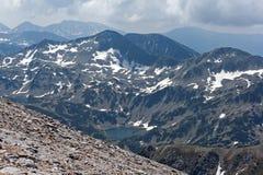 Καταπληκτική άποψη στις αιχμές Kutelo, βουνό Pirin Στοκ Φωτογραφία