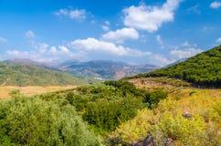 Καταπληκτική άποψη σχετικά με το νησί της Κρήτης, Ελλάδα Στοκ Εικόνες