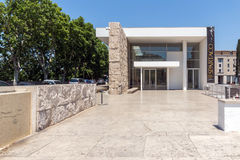 Καταπληκτική άποψη του μουσείου Ara Pacis στην πόλη της Ρώμης, Ιταλία Στοκ Εικόνα
