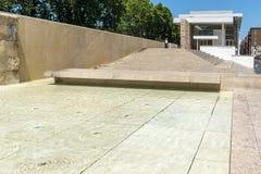 Καταπληκτική άποψη του μουσείου Ara Pacis στην πόλη της Ρώμης, Ιταλία Στοκ εικόνες με δικαίωμα ελεύθερης χρήσης