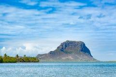 Καταπληκτική άποψη LE Morne Βραβάνδη Μαυρίκιος Στοκ Εικόνες