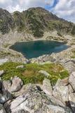 Καταπληκτική πανοραμική άποψη των λιμνών Musalenski, βουνό Rila Στοκ Φωτογραφίες